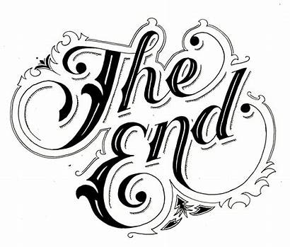 End Clipart Clip Theend Lettering Library Calligraphy