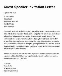 10 sample invitation letters sample templates With sample invitation letter for conference speaker