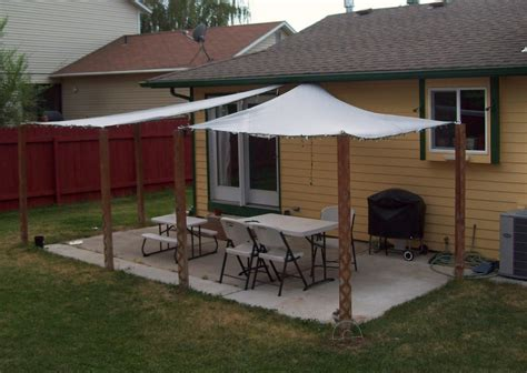 diy l shade running with scissors patio shade sails diy shade canopy