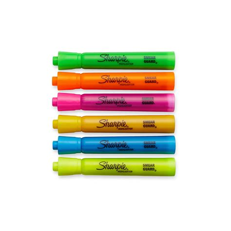 Sharpie Accent Tankstyle Highlighters 6 Colored