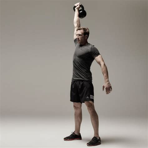 kettlebell press overhead forearms exercise kettle bell shoulder muscles exercises master form clean variations elbow position rack tips carry workout