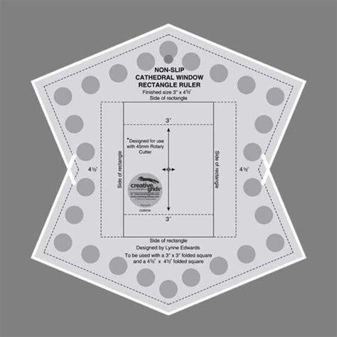 creative grids cathedral window rectangle ruler karelia