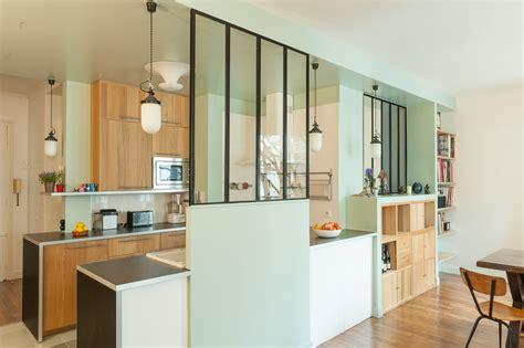 cuisine en verriere appartement farjo coeur de cuisine maéma architectes