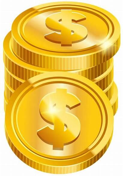Coin Coins Transparent Clip Money Clipart Dollar