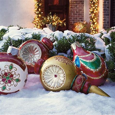 finial reflector fiber optic ornament outdoor decorations traditional