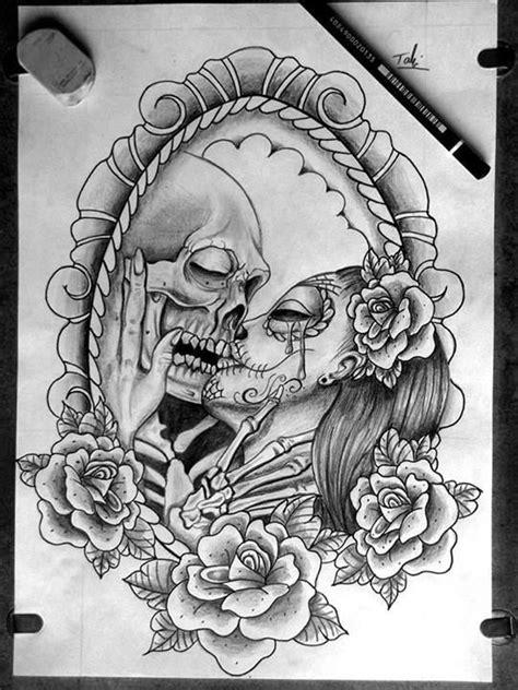 28 best Kissing Skull Tattoo Design Heart images on Pinterest | Tattoo ideas, Tattoo designs and