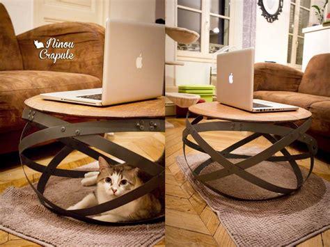 table basse originale diy une table basse tr 232 s originale r 233 alis 233 e 224 partir de cerclages de tonneaux diy d 233 co
