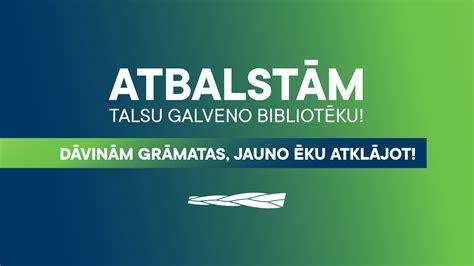 JAUNĀ VIENOTĪBA pasniegs dāvinājumu Talsu Galvenajai bibliotēkai - Jaunā Vienotība