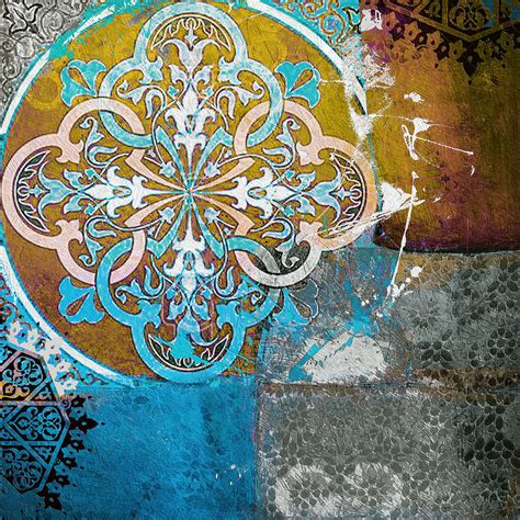 Artwork Home Decor by Arabic Motif 01c Painting By Corporate Art Task Force