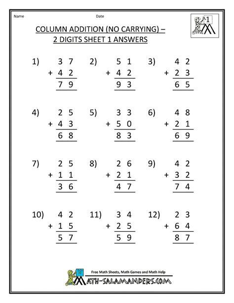 hard  grade math worksheets firstgrade