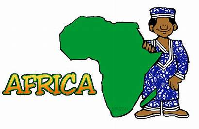 Africa Clip Clipart Tribe African Clips Map