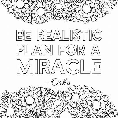 Coloring Pages Inspirational Quotes Adult Printable Popular