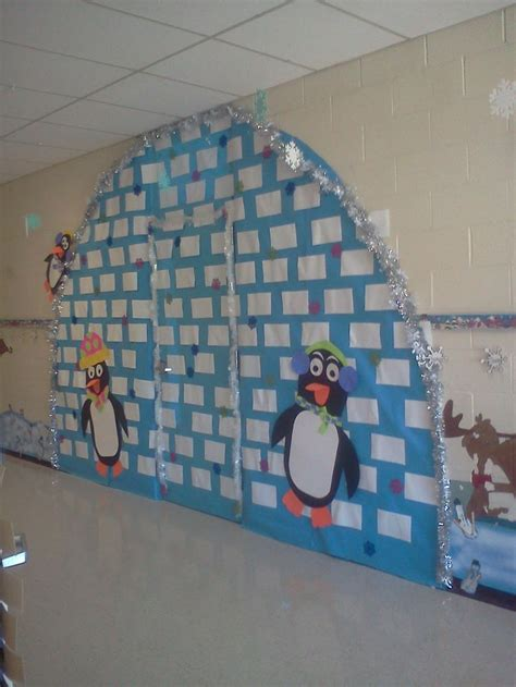 my version on the igloo for your classroom door d 233 co