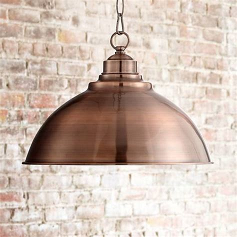 """Southton Copper Dome 13 1/4"""" Wide Pendant Light   #3F581"""