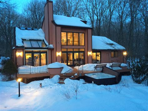 houses with tubs to rent pocono ski home outdoor tub grill vrbo