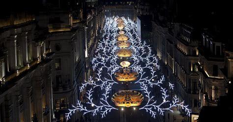 regent street christmas lights leona lewis switches