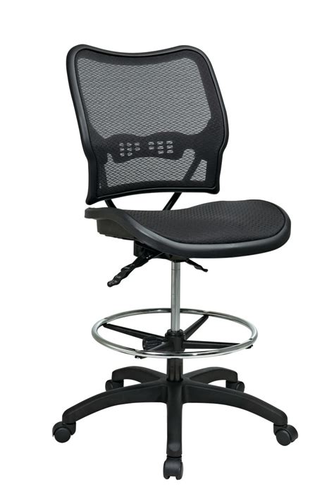 deluxe ergonomic airgrid 174 seat and back drafting chair