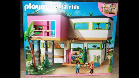 2 Maison Moderne Playmobil City Life 5574 Youtube