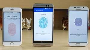 HTC One M9 Plus vs Galaxy S6 vs iPhone 6 Fingerprint Sc ...