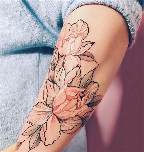 soft color flower arm tattoo tattoo katalaynet