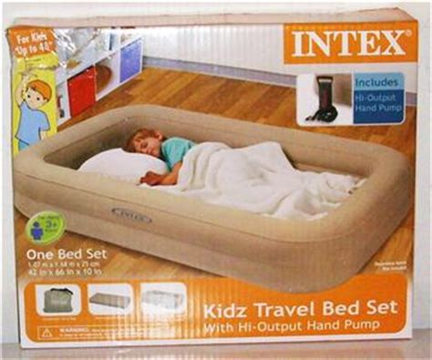 intex kidz travel bed intex kidz travel bed set includes for