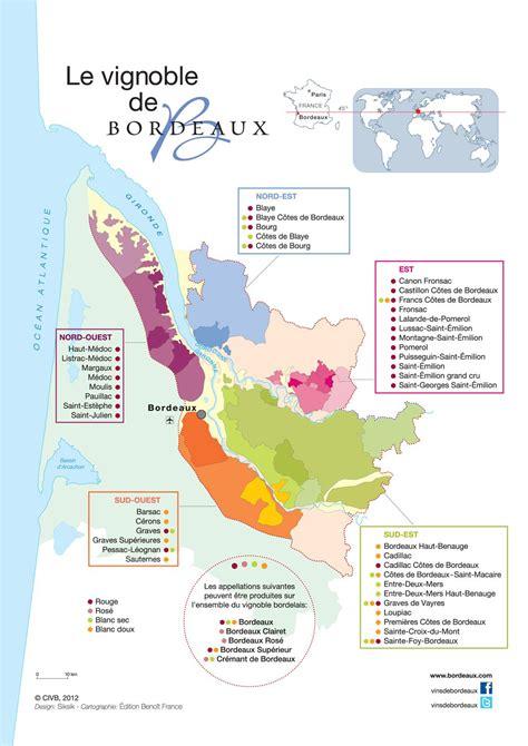Carte Vin Aoc by Vins De Bordeaux Appellations Et Carte Du Vignoble