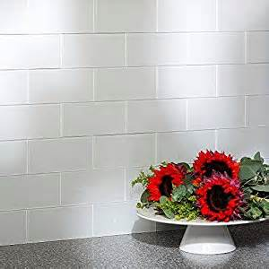 aspect peel and stick backsplash kit glass tile in frost
