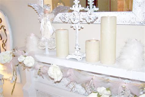 shabby chic mantels olivia s romantic home shabby chic white christmas mantel