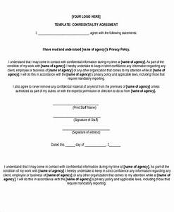 free non disclosure agreement form 10 free word pdf With short non disclosure agreement template