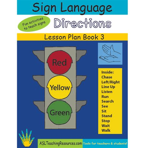 lesson plan book 03 sign language directions asl