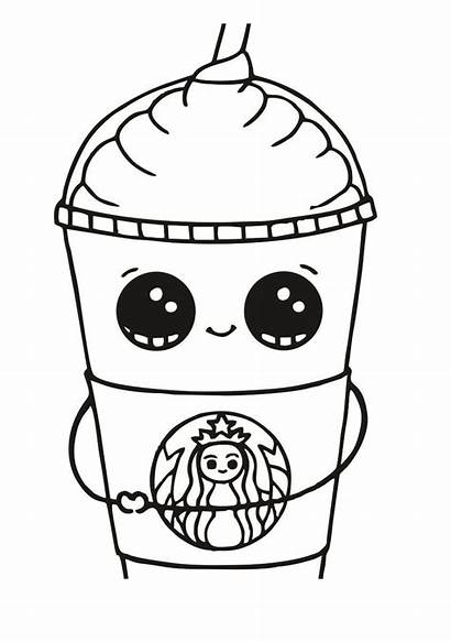 Starbucks Coloring Pages Printable Cup Frappuccino Cool