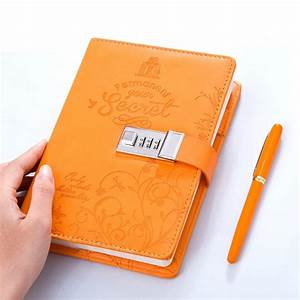 B6 Faux Leather Password Lock Notebook Personal Diary