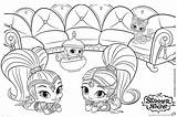 Shine Shimmer Coloring Pages Printable Lying Stomach Print Their sketch template