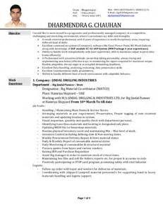 store incharge resume format rig store keeper resume