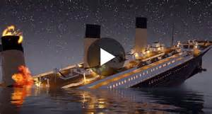 video haunting animation video shows how the titanic sunk in real time