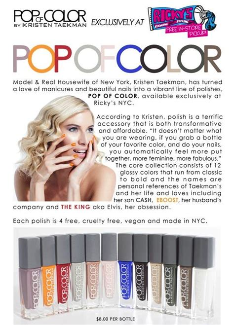 pop of color nail collection kristen taekman x