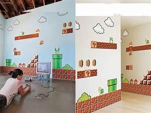 super mario bros wall decals gadgetsin With mario wall decals
