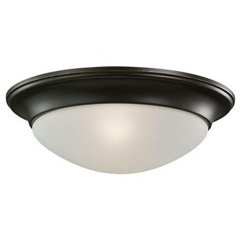 bronze flush ceiling light sea gull lighting 1 light ceiling heirloom bronze