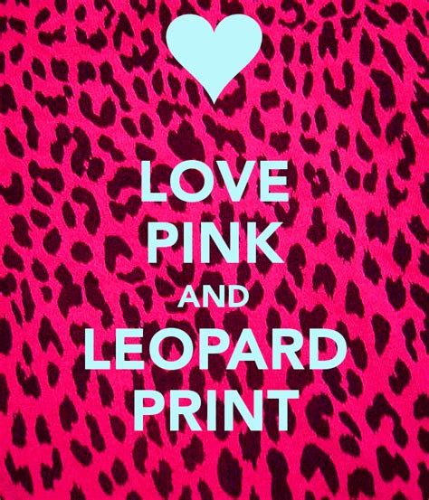 pink and leopard print poster ching keep calm o matic