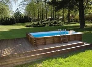 photo des plus belles piscines en bois piscine bois With terrasse piscine semi enterree 2 piscine exterieur 90 photos et idees inspirantes