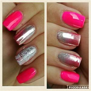 Neon Pink Chrome Nails Nail Art Gallery