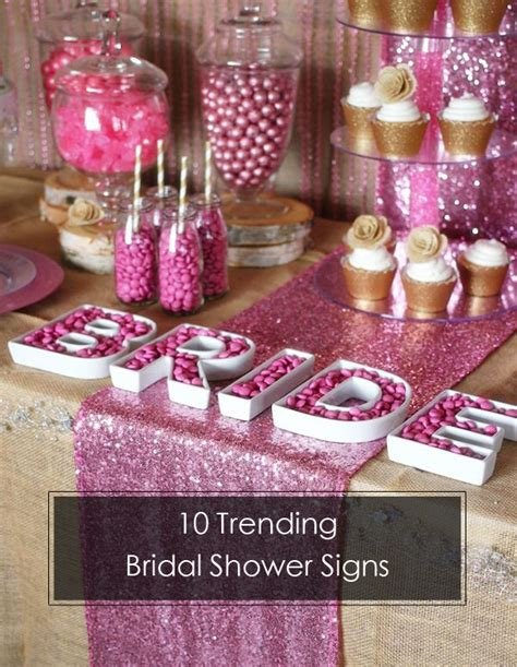 Decorating Ideas For Kitchen Bridal Shower by 10 Trending Bridal Shower Signs Ideas To Choose From