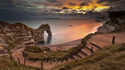 Steps Beach Stairs Sunset Secluded Down Door