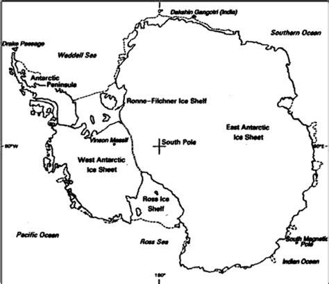 Continente antartico para colorear Imagui