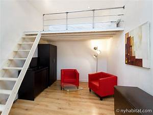 logement a paris location meublee studio avec alcove t1 With location studio 1 mois paris