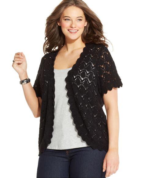 plus size cardigan sweaters style co plus size sleeve crochet cardigan in