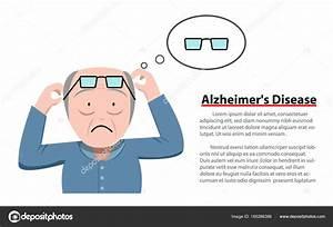 Alzheimer's Disease in old man, vector — Stock Vector ...