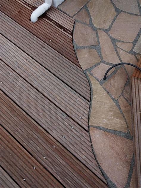 Terrasse Holz Stein Kombination by Terrasse Holz Mit Stein Kombiniert Bvrao
