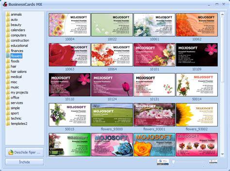 si e free businesscards mx program pentru conceperea si tiparirea