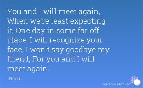 Will We Meet Again Quotes